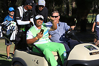 Kiradech Aphibarnrat (THA) winner of the ISPS Handa World Super 6 Perth at Lake Karrinyup Country Club on the Sunday 11th February 2018.<br /> Picture:  Thos Caffrey / www.golffile.ie<br /> <br /> All photo usage must carry mandatory copyright credit (&copy; Golffile   Thos Caffrey)