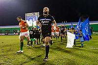 Tom Dunn and the rest of the Bath Rugby team run out onto the field. European Rugby Champions Cup match, between Benetton Rugby and Bath Rugby on January 20, 2018 at the Municipal Stadium of Monigo in Treviso, Italy. Photo by: Patrick Khachfe / Onside Images