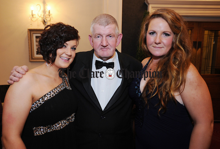 Susie Arthur from Spancil Hill with Malachy and Ruth Hassett from Quin during the County Clare Hunt Ball at the Temple Gate Hotel in Ennis. Photograph by Declan Monaghan