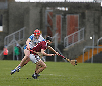 2nd February 2020; TEG Cusack Park, Mullingar, Westmeath, Ireland; Allianz Division 1 Hurling, Westmeath versus Waterford; Aonghus Clarke (Westmeath) and Kieran Power (Waterford) challenge for the ball