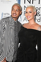 LOS ANGELES, CA - DECEMBER 5: Alexander Edwards and Amber Rose at The National Film and Television Awards at The Globe Theater in Los Angeles, California on December 5, 2018. Credit: Faye Sadou/MediaPunch