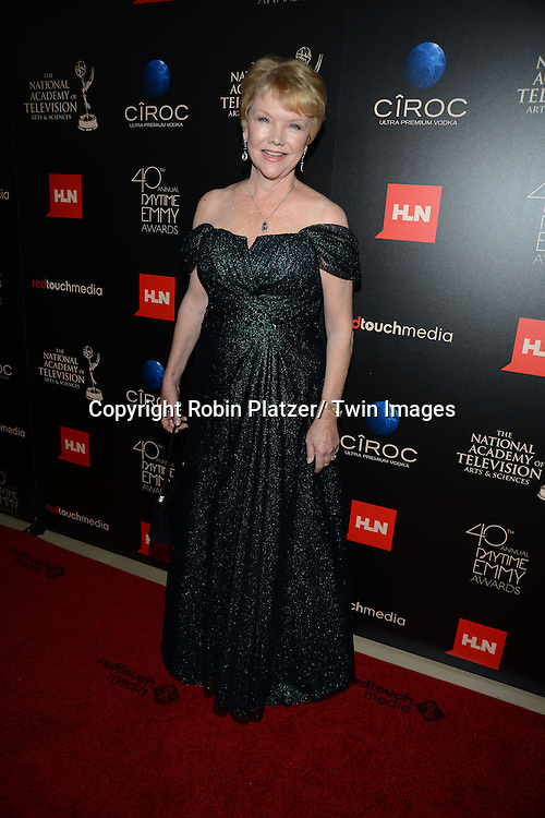 Erika Slezak attends The 40th Annual Daytime Emmy Awards on<br />  June 16, 2013 at the Beverly Hilton Hotel in Beverly Hills, California.