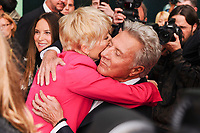 "Emma Thompson and Dustin Hoffman<br /> arriving for the London Film Festival 2017 screening of ""The Meyerowitz Stories"" at the Embankment Gardens Cinema, London<br /> <br /> <br /> ©Ash Knotek  D3319  06/10/2017"