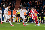 Real Madrid's Dani Ceballos and Girona FC's XXX during Copa del Rey match between Real Madrid and Girona FC at Santiago Bernabeu Stadium in Madrid, Spain. January 24, 2019. (ALTERPHOTOS/A. Perez Meca)