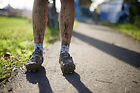 muddy shoes by Helen Wyman (GBR/Kona)<br /> <br /> Koppenbergcross 2014