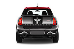 Straight rear view of 2016 MINI Countryman JCW 5 Door Hatchback Rear View  stock images