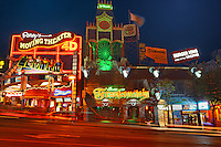 Night scene of Clifton Hill<br /> Niagara Falls<br /> Ontario<br /> Canada