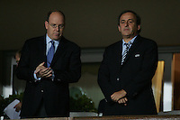 Il principe Alberto e Michel Platini