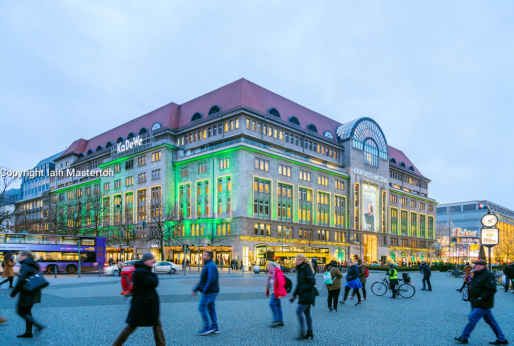 531c62422ed55c View of famous department store Kaufhaus des Westens or KaDeWe at Christmas  on famous shopping street Tauenzienstrasse