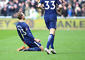 17th March 2018, Liberty Stadium, Swansea, Wales; FA Cup football, quarter-final, Swansea City versus Tottenham Hotspur; Christian Eriksen of Tottenham Hotspur celebrates putting his side 1-0 up in the 12th minute