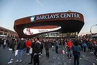 NEW YORK, EUA, 08.04.2017 - BROOKLYN NETS-CHICAGO BULLS - Vista do Barcleys Center onde acontece a partida entre Brooklyn Nets e Chicago Bulls em New York na noite deste sábado, 08. (Foto: William Volcov/Brazil Photo Press)