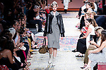 A model walks the runway at the 'Roberto Verino' catwalk during the Mercedes-Benz Madrid Fashion Week Spring/Summer in Madrid, Spain. July 09, 2018. (ALTERPHOTOS/Borja B.Hojas)