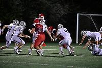 September 6, 2018:  Game action from the Bridgewater-Raynham vs Duxbury varsity football game played at Bridgewater-Raynham High School in Bridgewater MA. Eric Canha/BridgewaterSports.com