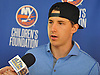 Ryan Strome of the New York Islanders speaks with reporters at the Long Island Marriott in Uniondale on Thursday, Sept. 22, 2016.