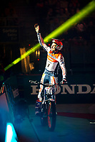 2nd February 2020; Palau Sant Jordi, Barcelona, Catalonia, Spain; X Trail Mountain Biking Championships; Toni Bou (Spain) of the Montesa Team greets the fans during start of the X-Trail indoor Barcelona