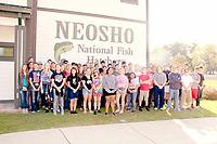 COURTESY PHOTO FFA members tour the Neosho National Fish Hatchery.