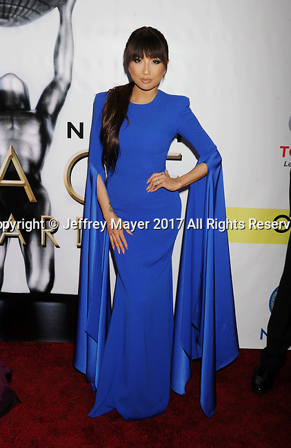 PASADENA, CA - FEBRUARY 11: Actress Jeannie Mai arrives at the 48th NAACP Image Awards at Pasadena Civic Auditorium on February 11, 2017 in Pasadena, California.