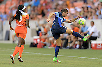 Houston, TX - Sunday June 19, 2016: Brittany Taylor during a regular season National Women's Soccer League (NWSL) match between the Houston Dash and FC Kansas City at BBVA Compass Stadium.