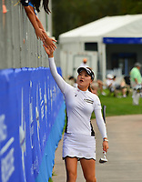 So Yeon Ryu, of Korea, The 2017 ANA Inspiration Champion makes her way down Champions Way after her third round of the ANA Inspiration at the Mission Hills Country Club in Palm Desert, California, USA. 3/31/18.<br /> <br /> Picture: Golffile | Bruce Sherwood<br /> <br /> <br /> All photo usage must carry mandatory copyright credit (&copy; Golffile | Bruce Sherwood)during the second round of the ANA Inspiration at the Mission Hills Country Club in Palm Desert, California, USA. 3/31/18.<br /> <br /> Picture: Golffile | Bruce Sherwood<br /> <br /> <br /> All photo usage must carry mandatory copyright credit (&copy; Golffile | Bruce Sherwood)
