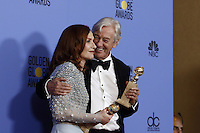 www.acepixs.com<br /> <br /> January 8 2017, LA<br /> <br /> Isabelle Huppert and Paul Verhoeven appeared in the press room during the 74th Annual Golden Globe Awards at The Beverly Hilton Hotel on January 8, 2017 in Beverly Hills, California.<br /> <br /> By Line: Famous/ACE Pictures<br /> <br /> <br /> ACE Pictures Inc<br /> Tel: 6467670430<br /> Email: info@acepixs.com<br /> www.acepixs.com