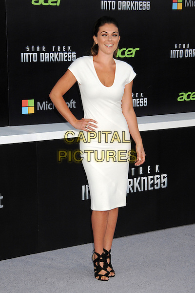 "Serinda Swan.""Star Trek Into Darkness"" Los Angeles Premiere held at the Dolby Theatre, Hollywood, California, USA..May 14th, 2013.full length dress black sandals shoes hand on hip white .CAP/ADM/BP.©Byron Purvis/AdMedia/Capital Pictures"