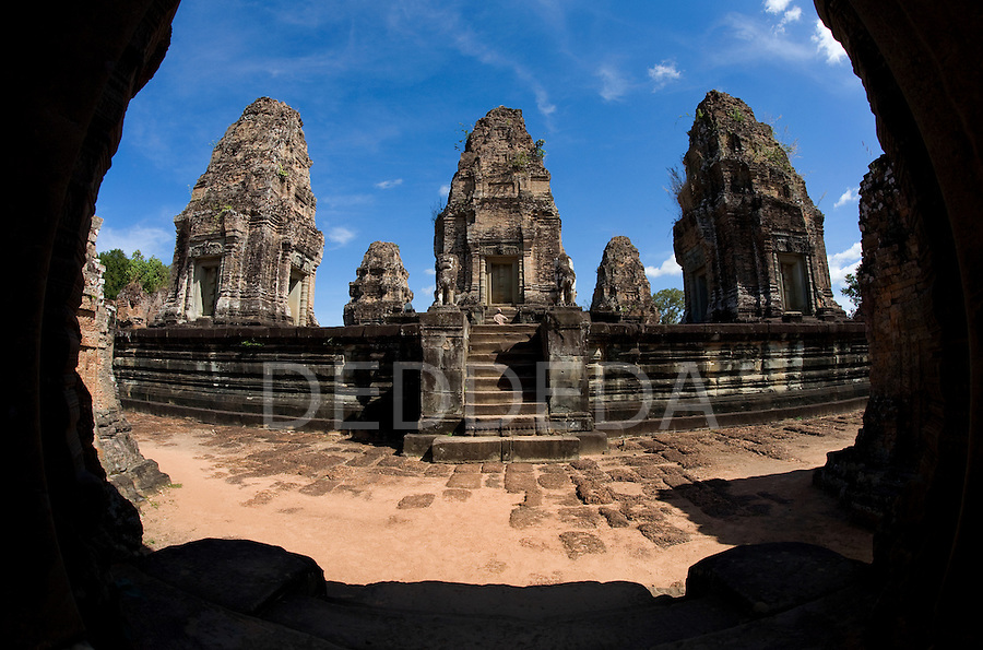 A temple in the ancient city of Angkor, in northwestern Cambodia, where Khmer kings established their capitals from the 9th to the 12th century.