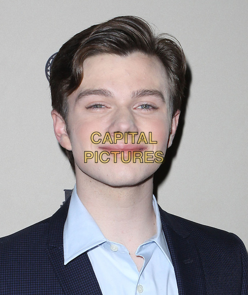 CHRIS COLFER.An evening with 'GLEE' held At Leonard H. Goldenson, North Hollywood, California, USA, 26th April 2010..portrait headshot blue shirt .CAP/ADM/KB.©Kevan Brooks/AdMedia/Capital Pictures.