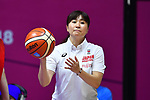 Kaori Kusuda (JPN), <br /> AUGUST 15, 2018 - Basketball : Women's Qualification round match between Hong Kong 44-121 Japan at Gelora Bung Karno Basket Hall A during the 2018 Jakarta Palembang Asian Games in Jakarta, Indonesia.<br /> (Photo by MATSUO.K/AFLO SPORT)