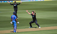 Matt Henry appeals during the One Day International cricket match between NZ Black Caps and India at Westpac Stadium in Wellington, New Zealand on Sunday, 3 February 2019. Photo: Dave Lintott / lintottphoto.co.nz