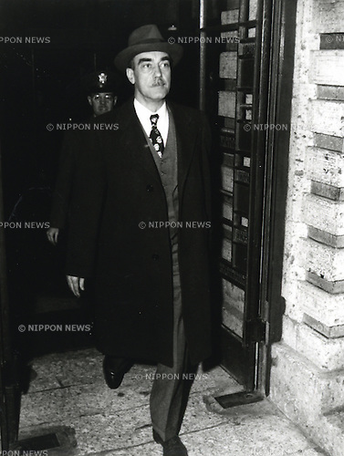 Undated - William Henry Draper Jr. (1894 - 1974) was the head of Japanese compensatory investigating commission after World War II. Also, he was the U.S. army officer, banker, and diplomat. (Photo by Kingendai Photo Library/AFLO)