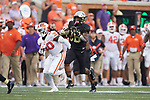 Wake Forest Demon Deacons running back Christian Beal-Smith (26) breaks free for a long run during second half action against the Clemson Tigers at BB&T Field on October 6, 2018 in Winston-Salem, North Carolina. the Tigers defeated the Demon Deacons 63-3. (Brian Westerholt/Sports On Film)