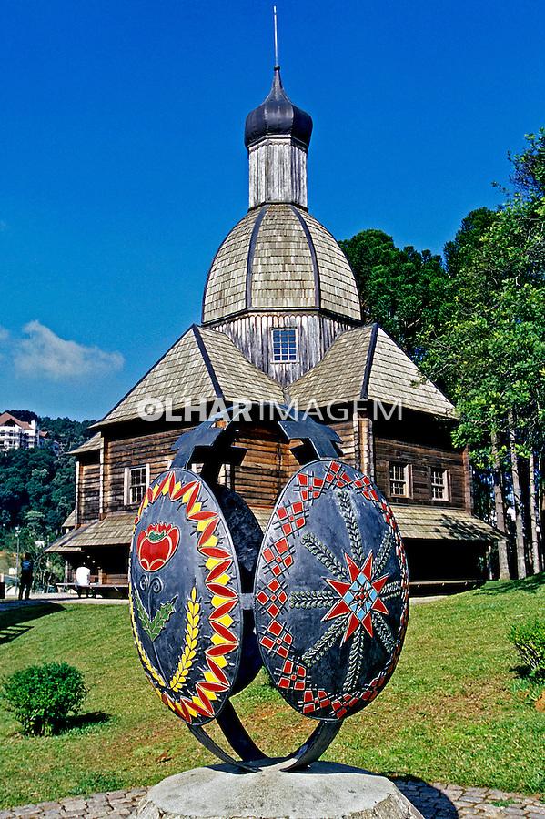 Memorial Ucraniano e igreja São Miguél Arcanjo em Curitiba, Paraná. 2001. Foto de Juca Martins.