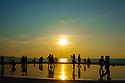 Zadar, Croatia. 26.05.2018. Tourists at the Greeting to the Sun, Zadar, Croatia. Photograph © Jane Hobson.