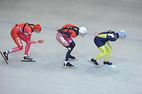 SCHAATSEN: HEERENVEEN: Thialf, 26-06-2012, Zomerijs, Team LIGA, Margot Boer, Lucas Duffield (CAN), Daniel Greig (AUS), ©foto Martin de Jong