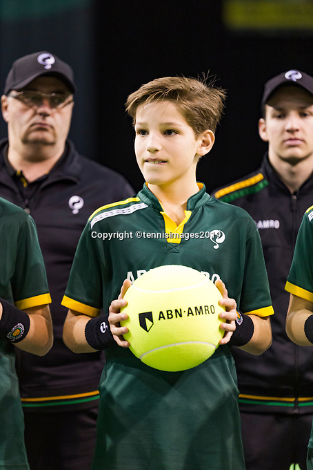 Rotterdam, The Netherlands, 14 Februari 2019, ABNAMRO World Tennis Tournament, Ahoy, Ballboy,<br /> Photo: www.tennisimages.com/Henk Koster