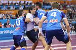 handball wordl cup match between France vs Argentina. brother karabatic  . 2015/01/26. Doha. Qatar. Alberto de Isidro.Photocall 3000