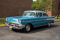 1957 Modified Senior (#100) – 1957 Chevrolet Bel Air 2-Door Sedan registered to Bill MacKenzie is pictured during 4th State Representative Chevy Show on Friday, July 1, 2016, in Fort Wayne, Indiana. (Photo by James Brosher)