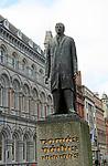 Tomas Daibis, Thomas Davis, statue on College Green, Dublin city, Ireland, Republic of Ireland by Edward Delaney 1966
