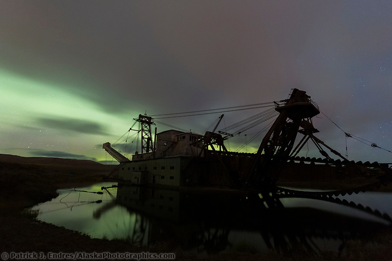 Historic gold mining dredge in Nome, Alaska.