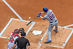 30 April 2017: New York Mets second baseman Neil Walker at bat in the first inning against the Washington Nationals at Nationals Park in Washington, DC. The Nationals defeated the Mets 23-5 in the third game of their weekend series. Mandatory Credit: Ed Wolfstein Photo *** RAW (NEF) Image File Available ***