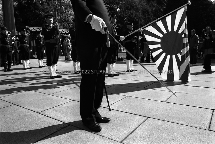 Nationalists gather at Yasukuni Shrine...All photographs ©2003 Stuart Isett.All rights reserved.This image may not be reproduced without expressed written permission from Stuart Isett.