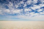 "Australia, South Australia;  clouds above dry salt lake ""Lake Eyre"""