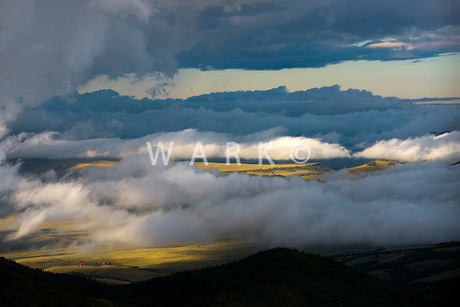 Clouds and sunset near Guffey, Colorado. Sept 2013. 83215