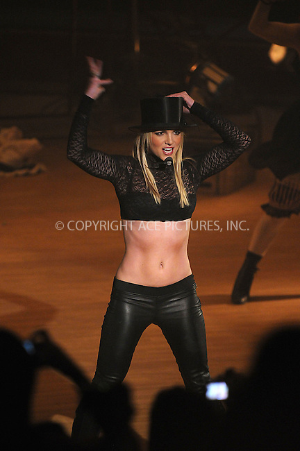 WWW.ACEPIXS.COM . . . . . ....December 2 2008, New York City....Singer Britney Spears performed live on ABC's 'Good Morning America' at The Big Apple Circus tent at the Lincoln Center on December 2, 2008 in New York City.....Please byline: KRISTIN CALLAHAN - ACEPIXS.COM.. . . . . . ..Ace Pictures, Inc:  ..(646) 769 0430..e-mail: info@acepixs.com..web: http://www.acepixs.com