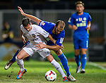 (L) Pablo Piatti of Valencia CF competes for the ball with (R) Ivan Moya of BC Rangers FC during LFP World Challenge 2014 between Valencia CF vs BC Rangers FC on May 28, 2014 at the Mongkok Stadium in Hong Kong, China. Photo by Victor Fraile / Power Sport Images