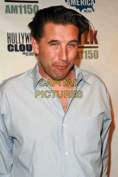"BILLY BALDWIN .West Coast Pre-Inaugural Party and live launch of ""Hollywood CLOUT!"" held at Falcon Restaurant, Hollywood, California, USA, 13 January 2009..half length blue shirt pinstripe .CAP/ADM/TC.©T. Conrad//Admedia/Capital Pictures"