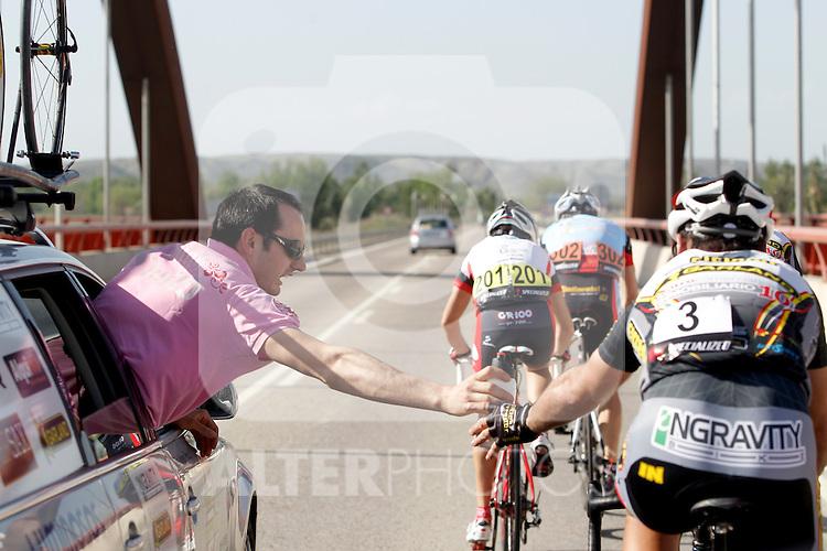 Etapa en linea ruta vuelta a Madrid 2011 4 Javier Moreno Ciclos Corredor, 3 Carlos del Valle Ciclos Corredor. (ALTERPHOTOS/Alvaro Hernandez)