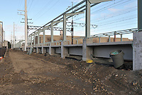 Construction Progress Railroad Station Fairfield Metro Center - One of 33 images taken on site visit 17 of once per month chronological photography