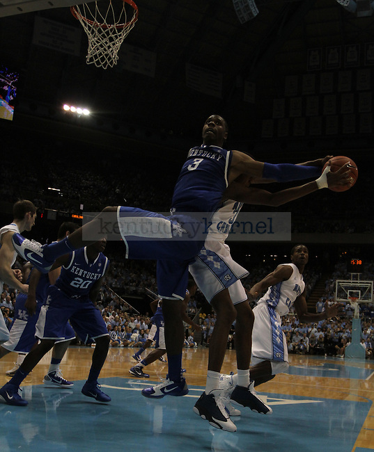 Terrence Jones playing against North Carolina on Dec. 4, 2010.  Photo by Latara Appleby | Staff