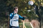 09.10.2018, Trainingsgelaende am Weserstadion, Bremen, GER, 1.FBL, Training SV Werder Bremen<br /> <br /> im Bild<br /> Sebastian Langkamp (Werder Bremen #15) mit Kopfball, <br /> <br /> Foto © nordphoto / Ewert
